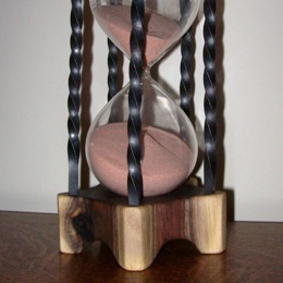 walnut hour glass